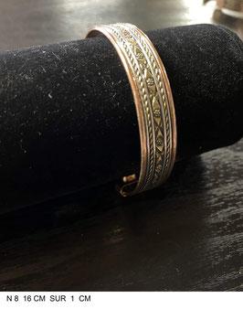 Bracelet aimant cuivre N8