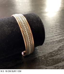 Bracelet aimant cuivre N3