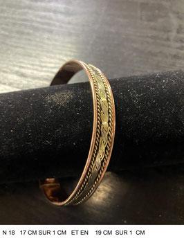 Bracelet aimant cuivre N18