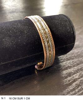 Bracelet aimant cuivre N1