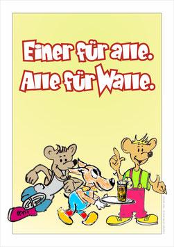 """""""Einer für alle. Alle für Walle."""" Comic"""