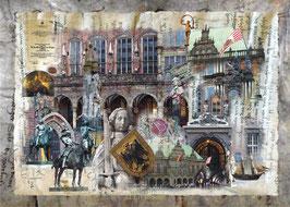 10 Jahre Weltkulturerbe   -  Bremer Rathaus und Roland