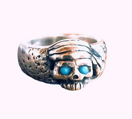 PIRATE SKULL ISLAND RING - TURQUOISE