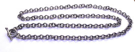 ROLO CHAIN NECKLACE IN SOLID SILVER 925 WITH T-BAR CLOSURE