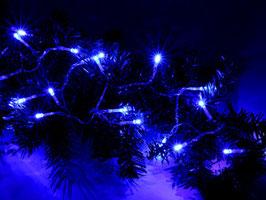 Lichterkette mit 20 blauen LEDs