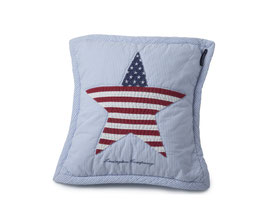 American Baby Quilted Sham blue with star