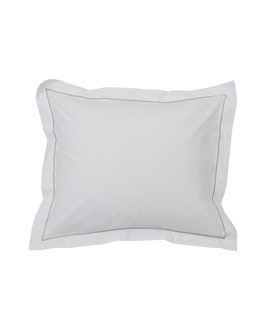 Hotel Percale Bedding White / Lt.Beige