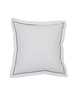 Hotel Percale Bedding White / Blue