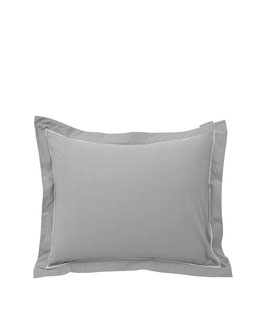 Hotel Percale Bedding Gray / White