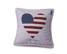 American Baby Quilted Sham pink with heart