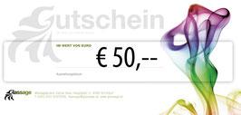 Wertgutschein 50