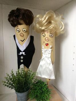 Individualisiertes Brautpaar