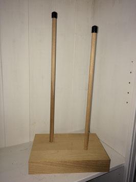 Holzständer (Buche unbehandelt) für Brautpaar