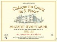2019 Muscadet Sevre et Maine sur lie de Saint Fiacre, Coing