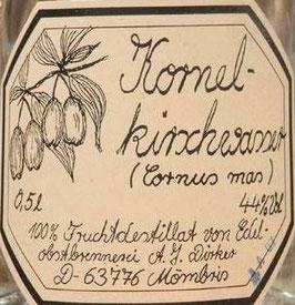 Kornelkirschwasser 0,5 l Flasche, Dirker