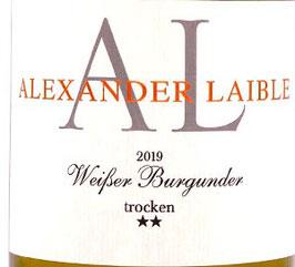 2019 Weißer Burgunder SL *** QbA trocken, Laible