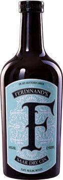 Ferdinands Saar dry Gin, 0,5 l Flasche