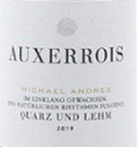 2020 Auxerrois Quarz und Lehm QbA trocken BIO, Andres
