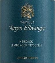 2019 Lemberger Hebsack QbA trocken, Ellwanger