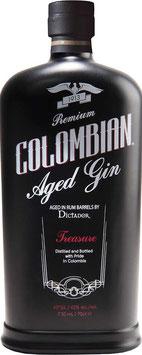 Dictador Colombian Aged black Gin (Treasure) 0,7 l Flasche