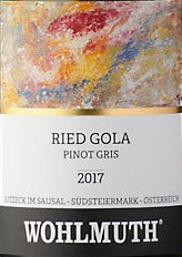 2010 Pinot Gris Gola, Wohlmuth