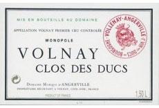 2001 Volnay Clos de Ducs, d´Angerville