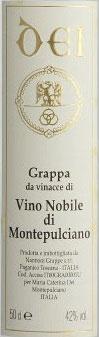 Grappa di Vino Nobile 0,5 l Flasche, Dei