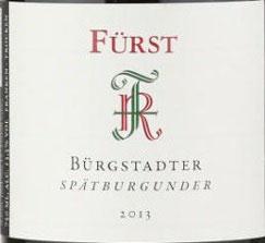 2018 Bürgstadt Spätburgunder QbA trocken, Fürst