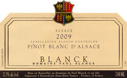 2018 Pinot blanc AC, Blanck