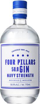 Four Pillars Australien Navy Strength Gin, 0,7 l Flasche