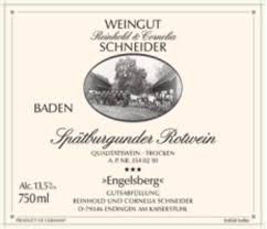 2015 Spätburgunder Engelsberg QbA trocken, R. Schneider