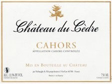 2016 Cahors rouge, Cedre
