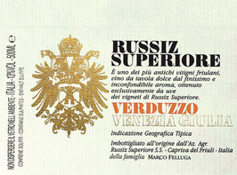 2009 Verduzzo IGT süß 0,5 l Flasche, Russiz