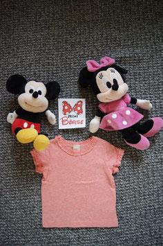 T-Shirt Gr. 68,  rosa T-Shirt mit Rüscheli