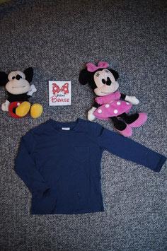 langarm T-Shirt Gr. 92, dunkelblaues langarm T-Shirt, 3 Schulterdruckknöpfe