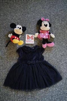 Kleid Gr. 86/92,  dunkelblaues festliches Kleid