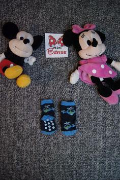 Socken, blaue Socken mit Helikopter, antirutschpunkte, Fusslänge ca. 8 cm