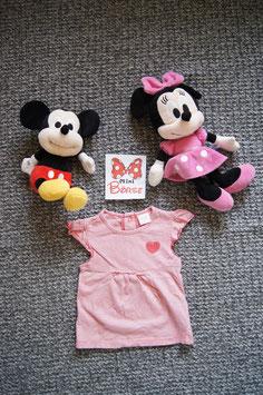 T-Shirt Gr. 68,  rosa-weiss gestreiftes T-Shirt,  drei Druckknöpfe am Rücken