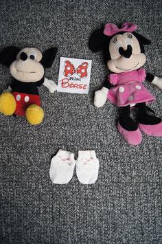 Kleine Handschuhe mit Mäscheli, 0-4 Monate