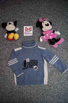 """Pullover Gr. 92, blau-grauer Rollkragen Pullover """"Checkpoint"""""""