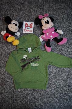 """Pullover Gr. 92, grüner Kaputzenpullover """"52"""""""