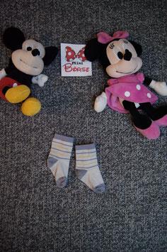 Socken, helle Socken mit gelb-blauen Streiffen, fusslänge ca. 9 cm