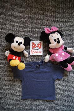 T-Shirt Gr. 68,  dunkelblaues T-Shirt,  drei Schulterdruckknöpfe