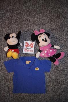 T-Shirt Gr. 86, blaues Polo Shirt mit Löwe
