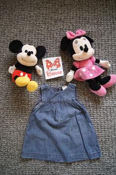 Kleid Gr. 68,  leichtes Jeans Kleid,  drei Knöpfe am Rücken