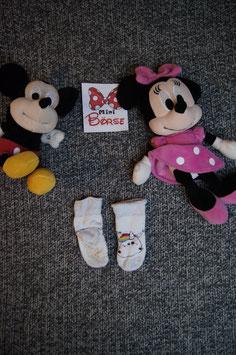 Socken, weisse Socken mit buntem Einhorn und antirutsch Punkte, Fusslänge ca. 8 cm