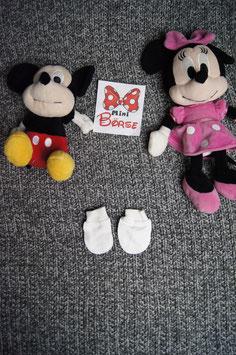 Handschuhe Gr. ca.  0-4 Monate, kleine weisse Handschuhe