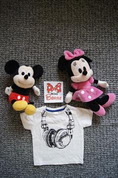 T-Shirt Gr. 68,  weisses T-Shirt mit Kopfhörer drauf