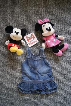 Kleid Gr. 68,  Jeans Kleid,  drei Druckknöpfe am Oberkörper und auf jeder Schulter einen