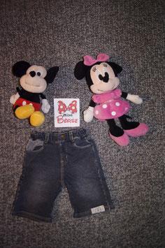 Jeans Gr. 86/92, kurze  dunkle Jeans